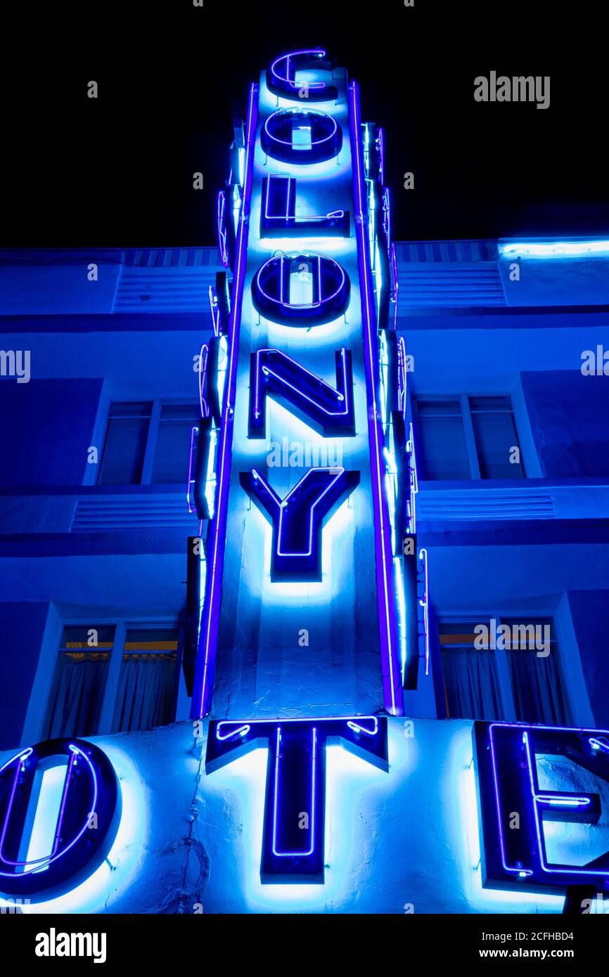 Les lumières étonnantes de Deco Drive Banque D'Images