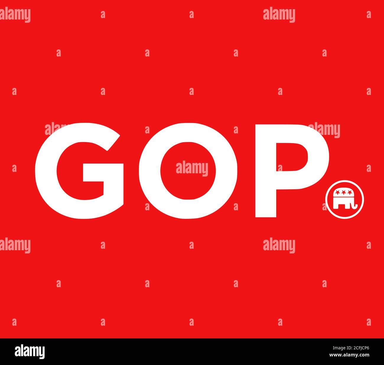 Logo du Parti Républicain GOP Banque D'Images