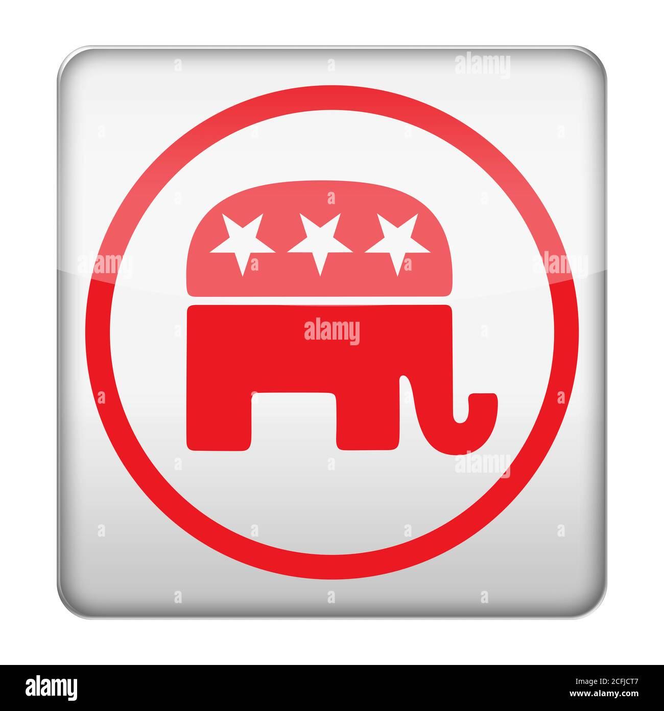 Parti républicain GOP Banque D'Images
