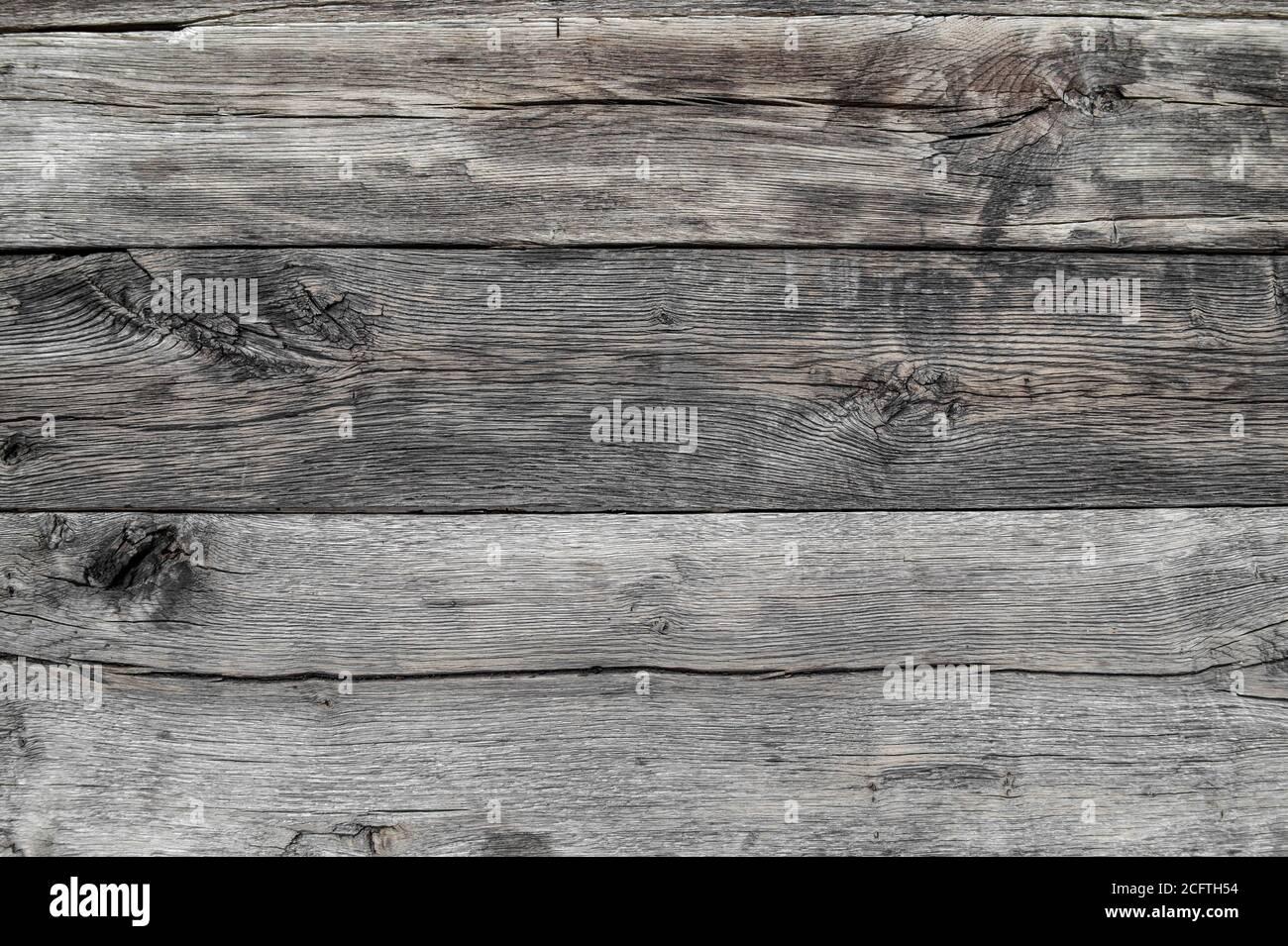 Texture du bois. Fond en bois rustique gris patiné Banque D'Images