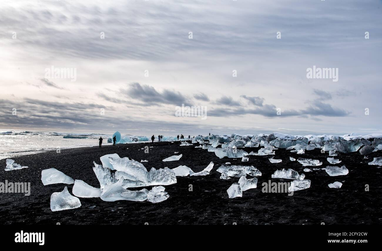 Plage du diamant, de l'Islande Banque D'Images