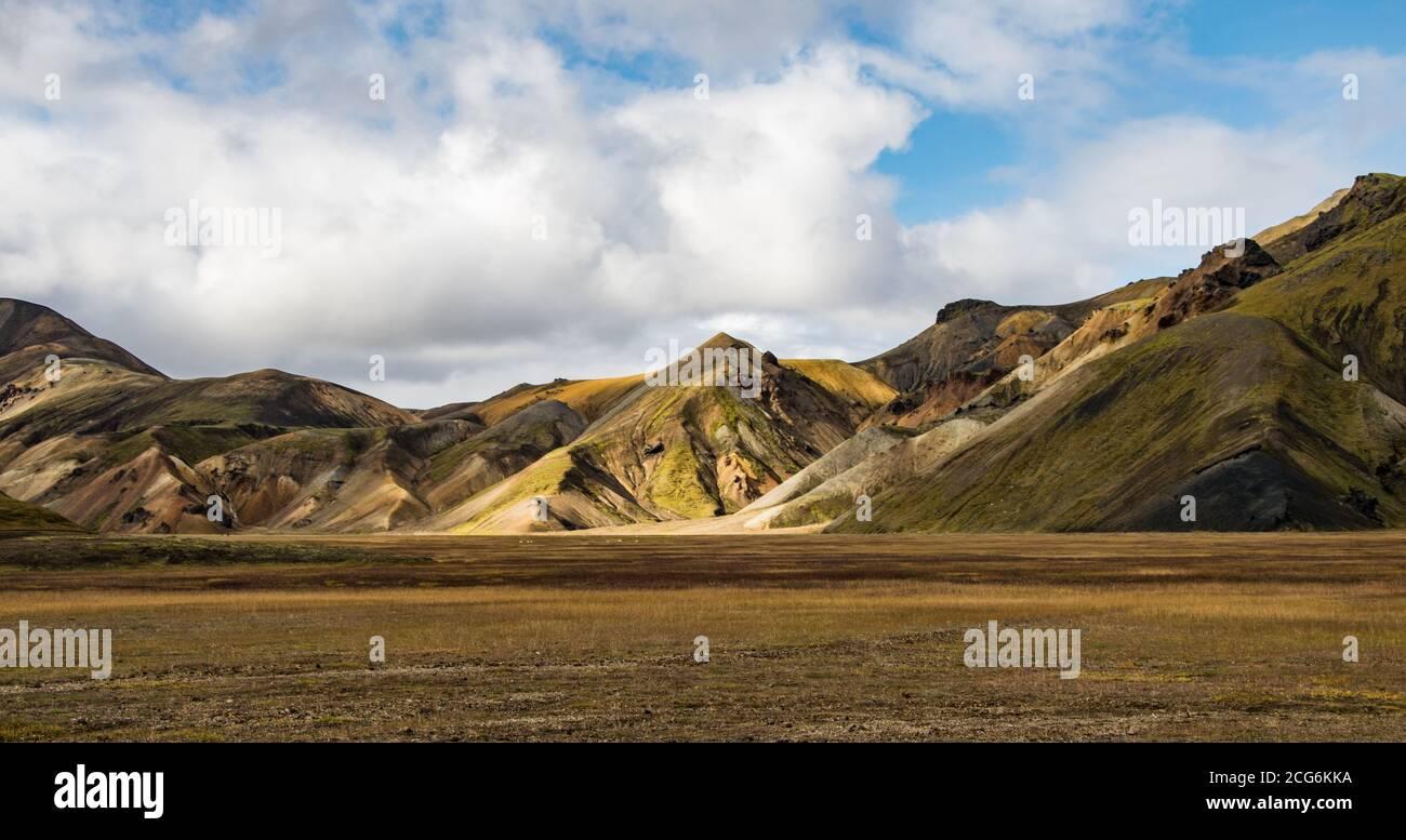 Landmannalaugar, l'une des destinations les plus célèbres des Ighlands islandais Banque D'Images