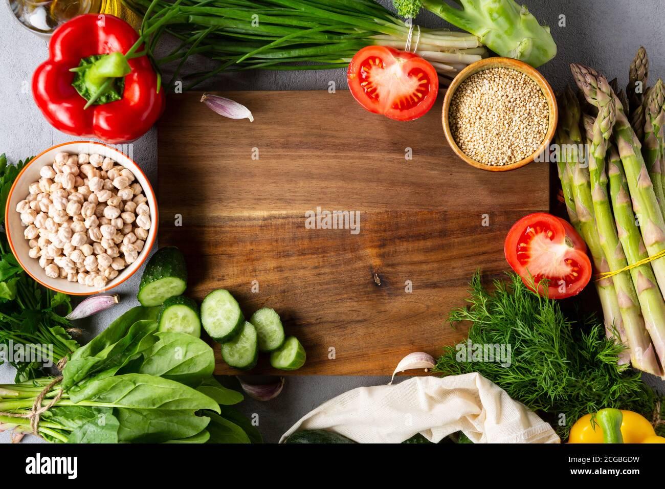 Vue sur la nourriture propre Banque D'Images