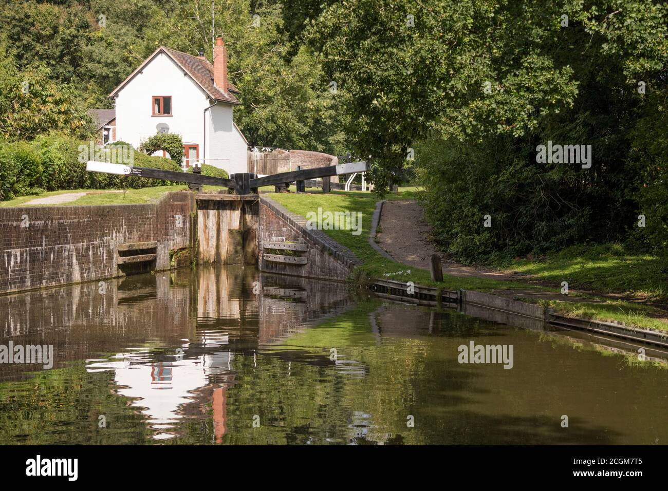 Stratford Upon Avon Canal à Kingwood Junction, Lapworth, Warwickshire, England, UK Banque D'Images