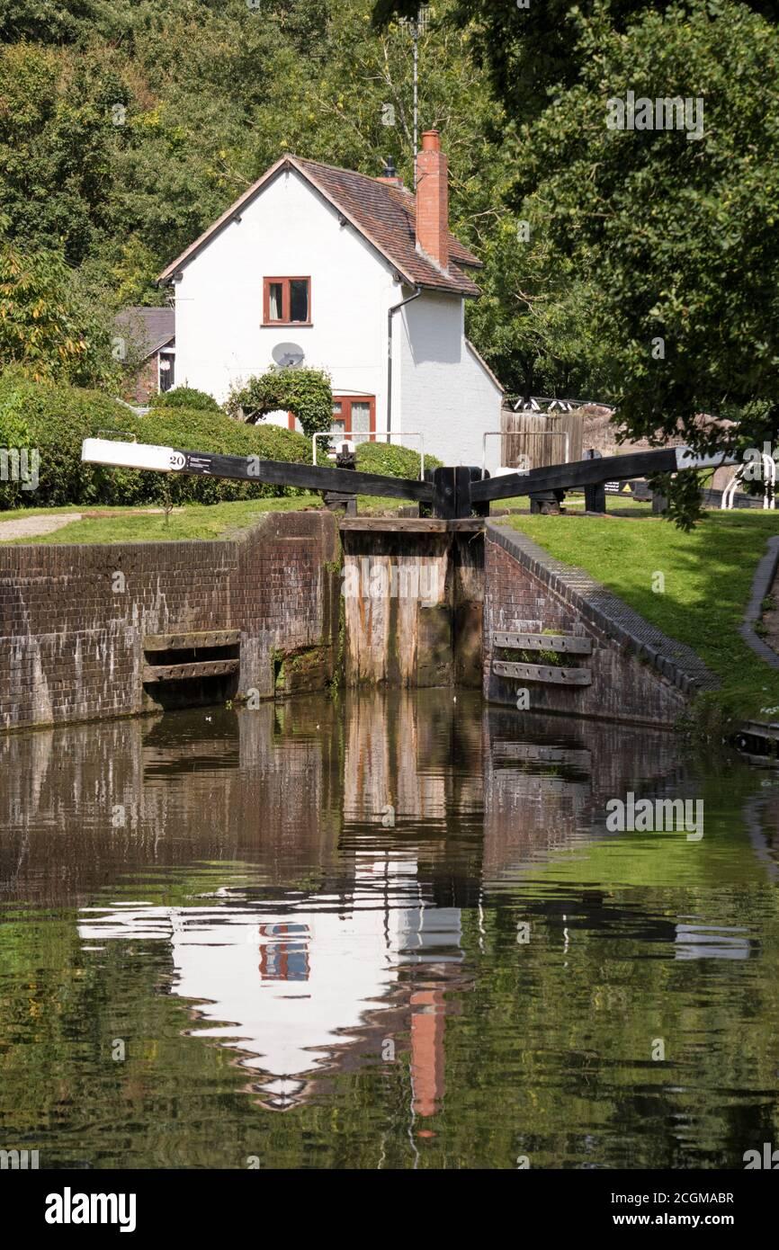 Stratford Upon Avon Canal près de Lapworth, Warwickshire, England, UK Banque D'Images