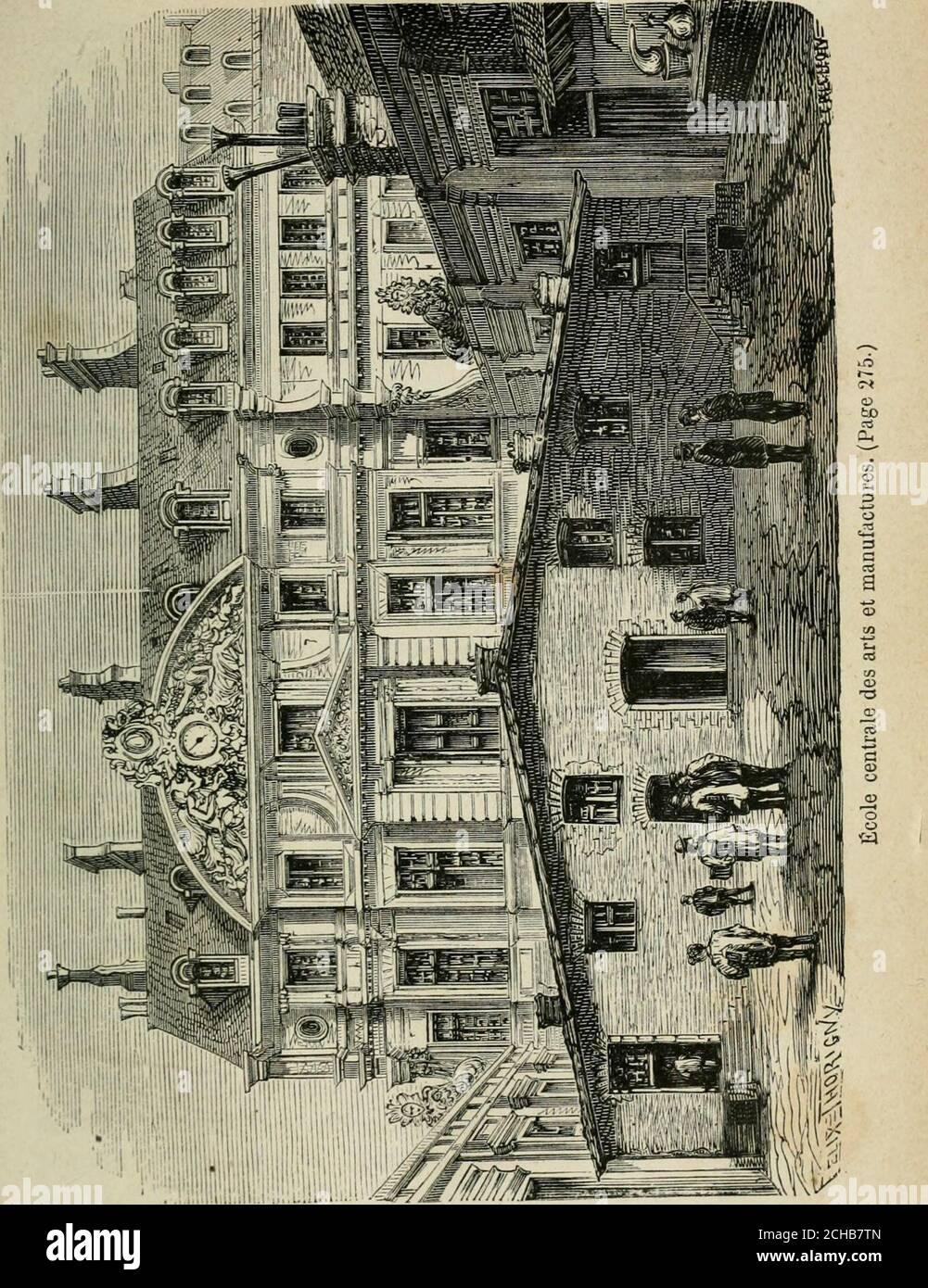 . Les merveilles du Nouveau Paris-- . -major et sont reparties dans les armures oules hôpitaux de lintérieur ou des colonies. LÉcole des mines, créée en 1783, retirée en 1793, réta-blie en 1816, est destinée à l'ancienne des ingénieurs des mines, pour les grandes exploitations métallurgiques, pour la direction et le contrôle des écoles de fer, etc. Onest admet à cette, de diingt-six et ladurée des études est de trois années. De cette école dependun bureau dessai où tout industriel peut demander à fairelextérience des nouvelles substances minérales utiles pila pu dc Banque D'Images