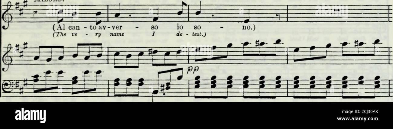 . FRA diavolo : opéra en trois actes . » -» f^^r^ ■ • —^^ I H f-s-s- ***** ***** S-ss-ss-s- -s-ss**:tri See iif i rr: i^ml«lMliife -ari—I L DJ utr N h I*» ■* 1^ h :*=£= ^ -3—E * •;* _*_;*_ 5 po - CO rerf. Milord. Del CAN - a - man- te io so - no, a ge - nio mi by mu -sic im e - ter de - light - ed ! Charme doux du. Sjl ?d£-: Ì g §* ^=RS: ^ * ezfr: -g—«_«i_ =?^ ps fr K_fr= :* > !*-^a WL *1 F 1 *=t=*^ * J » g— g- J va, ma par mio mal, Ali-lord e - guai gè - nio non ha, ed in ciò mai con lui non mi pos-soacco mind ! Pourtant, dans mu - sic my hus - groupe pas de piai • sûr peut trouver. Ho n'étaient pas Banque D'Images