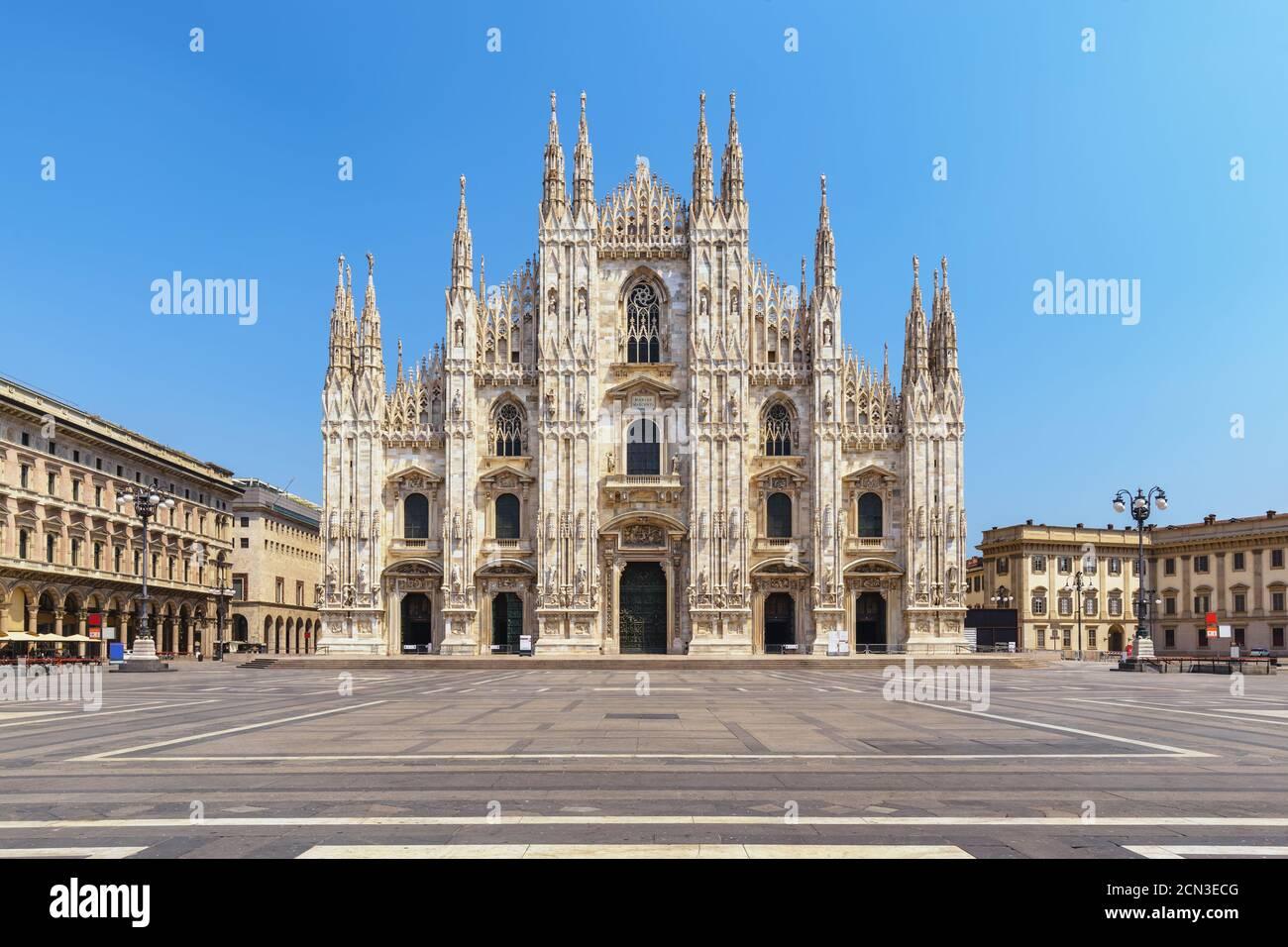 Milan Italie, les gratte-ciel de la cathédrale de Milan Duomo ne vide personne Banque D'Images