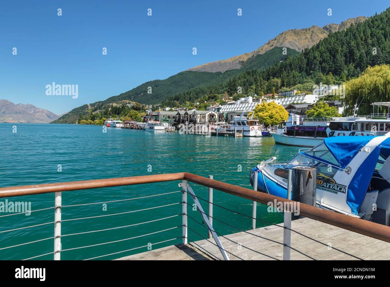 Queenstown, Lac Wakatipu, Otago, Île du Sud, Nouvelle-Zélande, Pacifique Banque D'Images