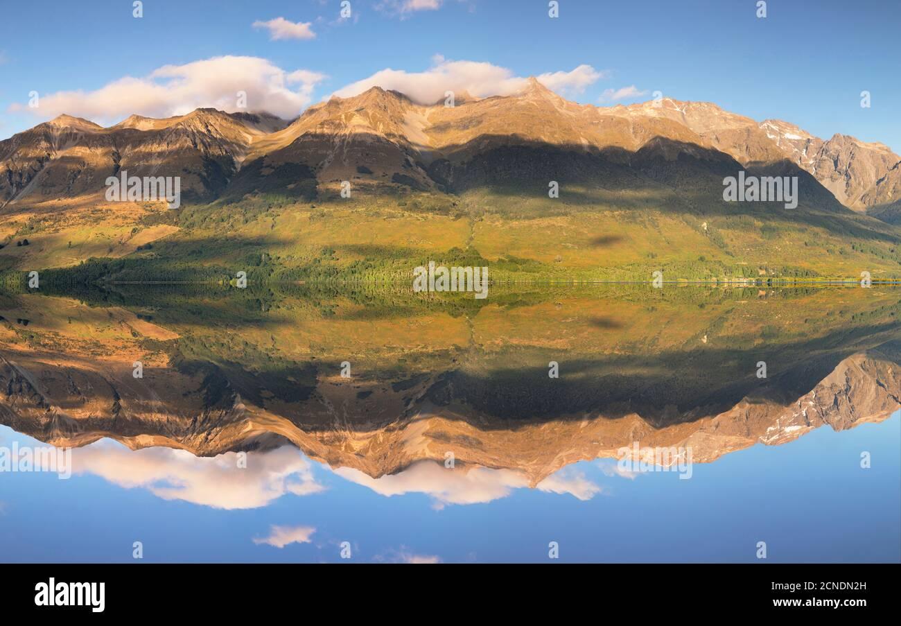 Glenorchy Lagoon au lever du soleil, Glenorchy, Otago, South Island, Nouvelle-Zélande, Pacifique Banque D'Images