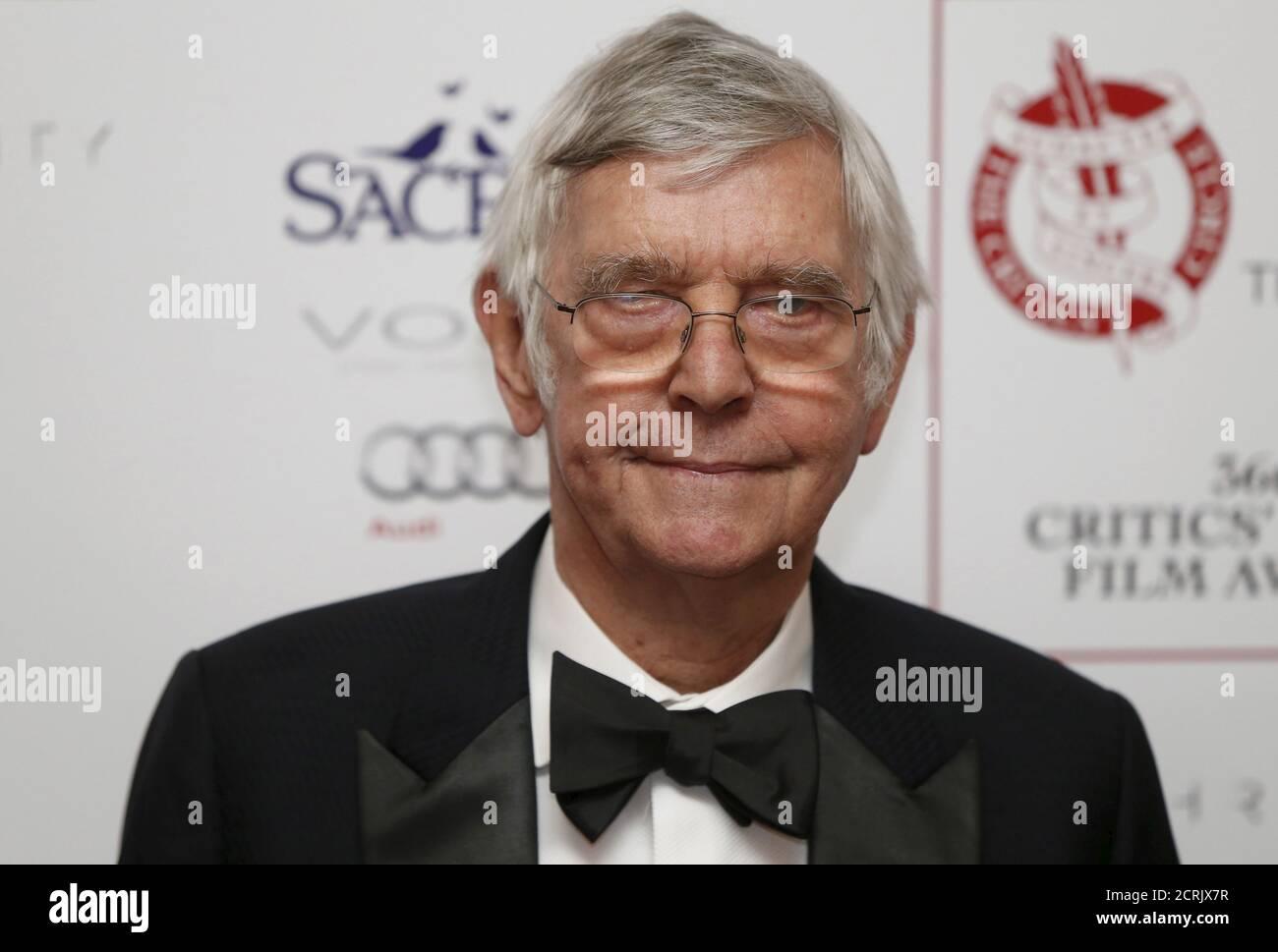 L'acteur britannique Tom Courtenay pose pour les photographes à la 36e édition des London Criticss' Circle film Awards à Londres, en Grande-Bretagne, le 17 janvier 2016. REUTERS/Neil Hall Banque D'Images