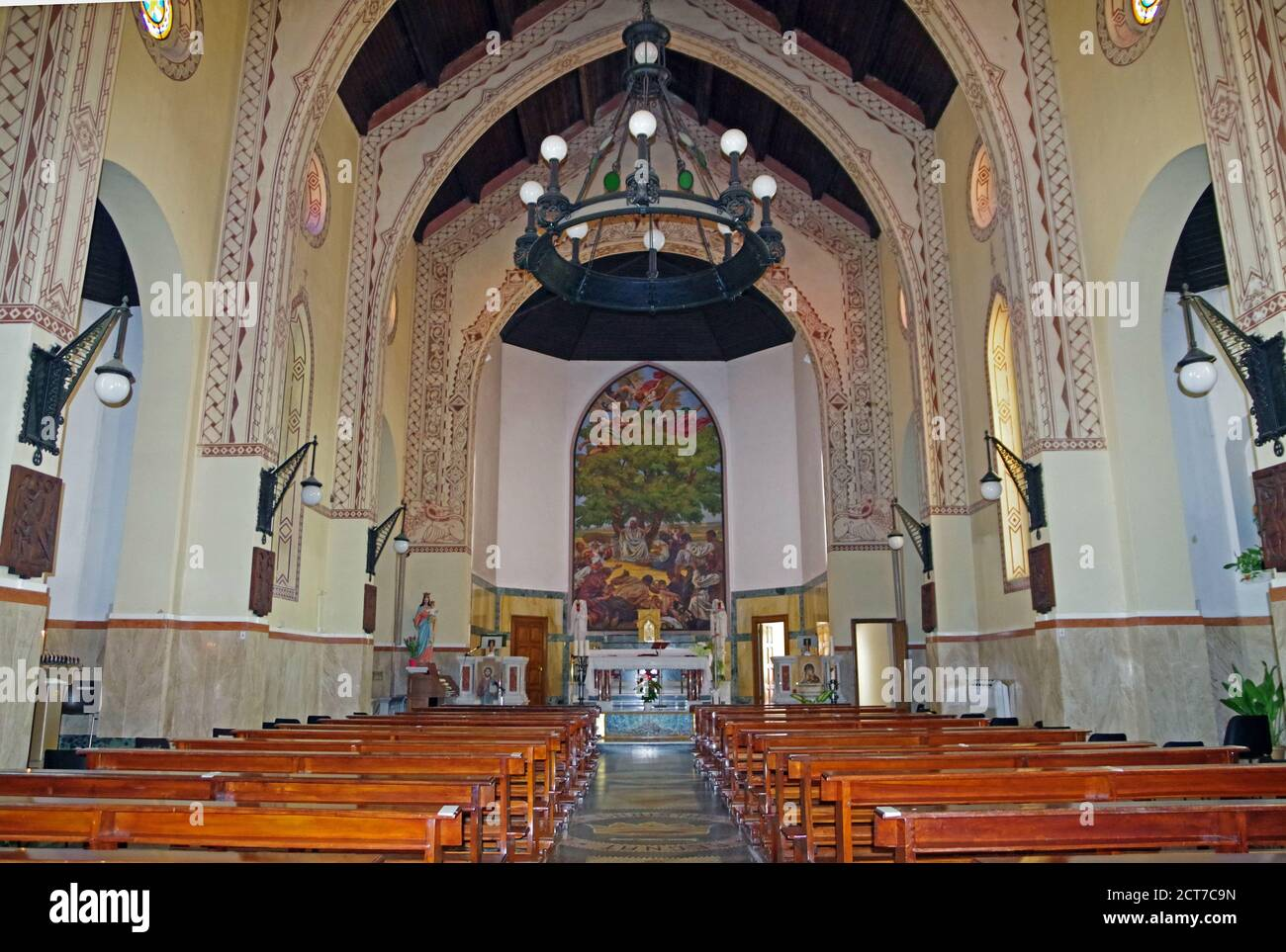 Arborea, Sardaigne, Italie. L'église Sainte Rédeemerr Banque D'Images