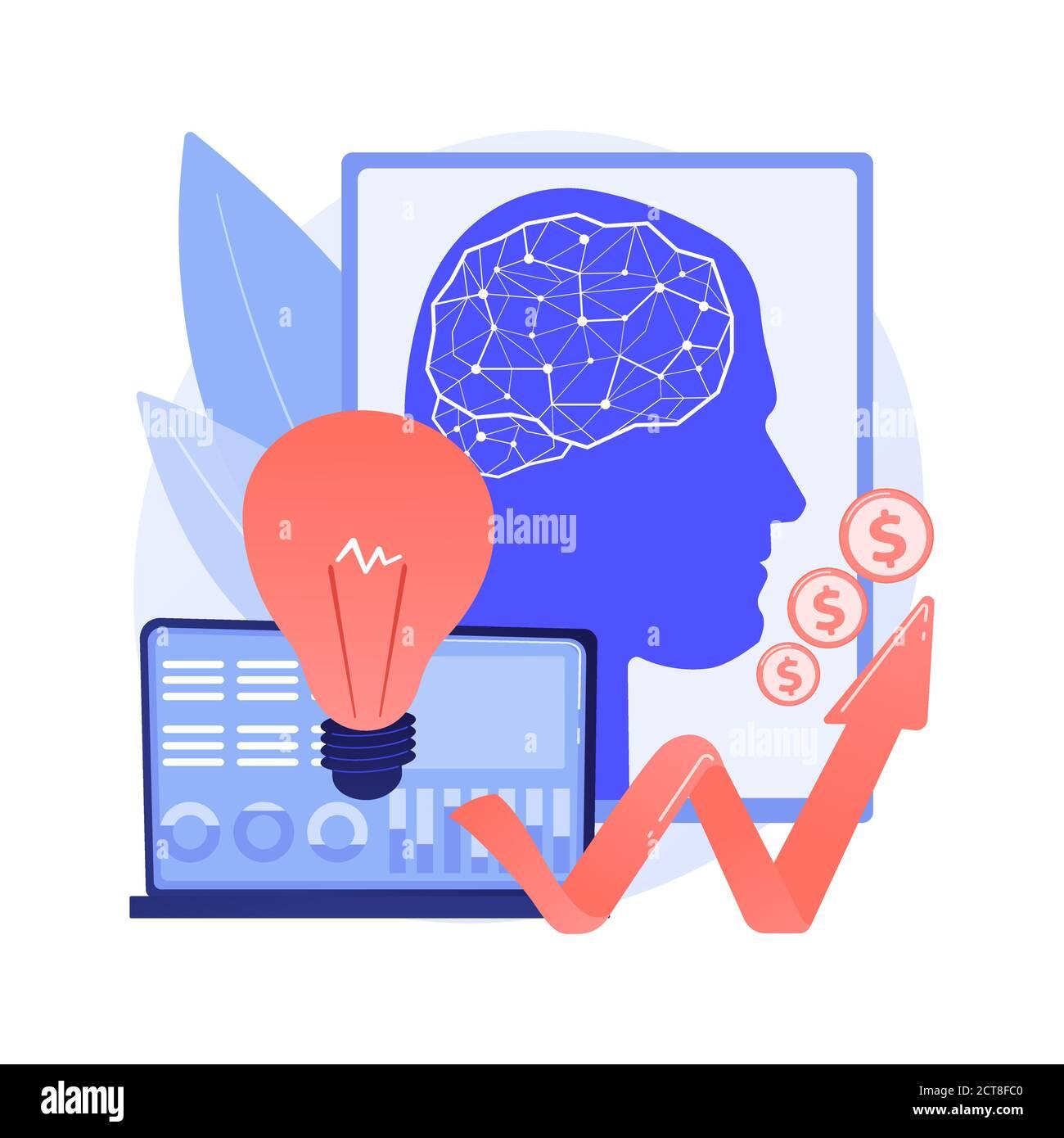 L'intelligence artificielle dans le financement de l'illustration abstraite du vecteur du concept. Illustration de Vecteur
