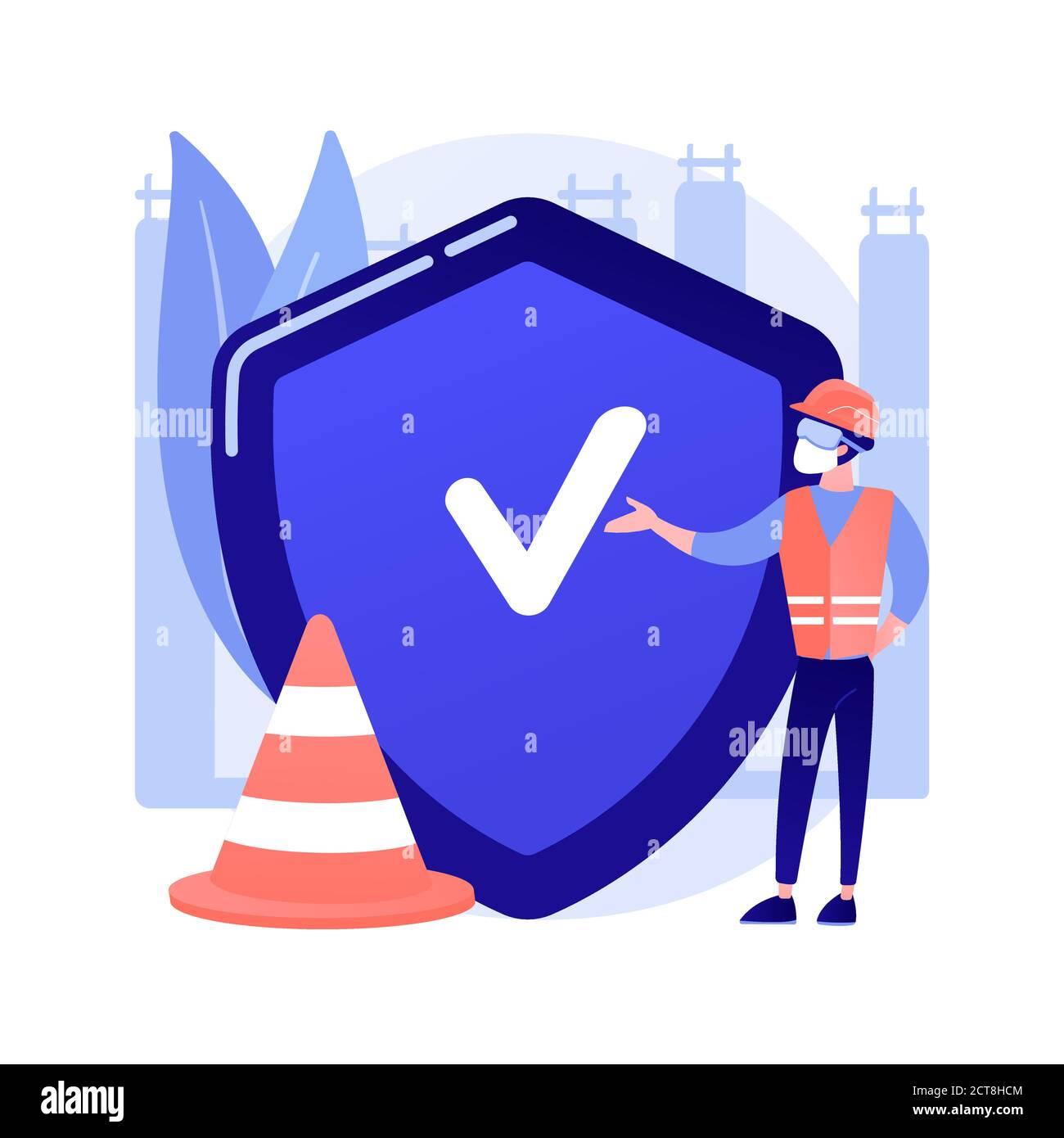 Illustration vectorielle du concept abstrait de sécurité sur le lieu de travail. Illustration de Vecteur