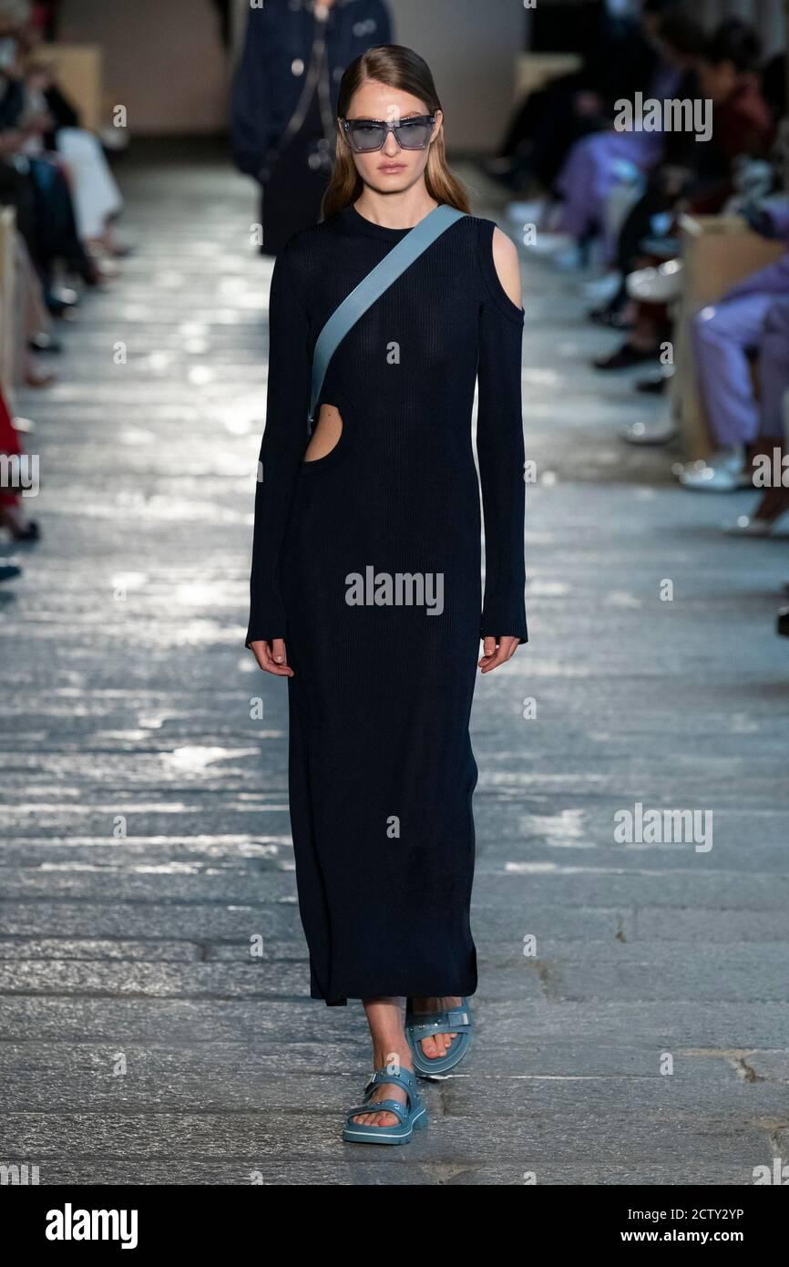 Milam, Italie. 25 septembre 2020. BOSS Spring/Summer 2021 Runway pendant la semaine de la mode de Milan septembre 2020 - Milan, Italie 25/09/2020 | usage dans le monde crédit: dpa/Alay Live News Banque D'Images