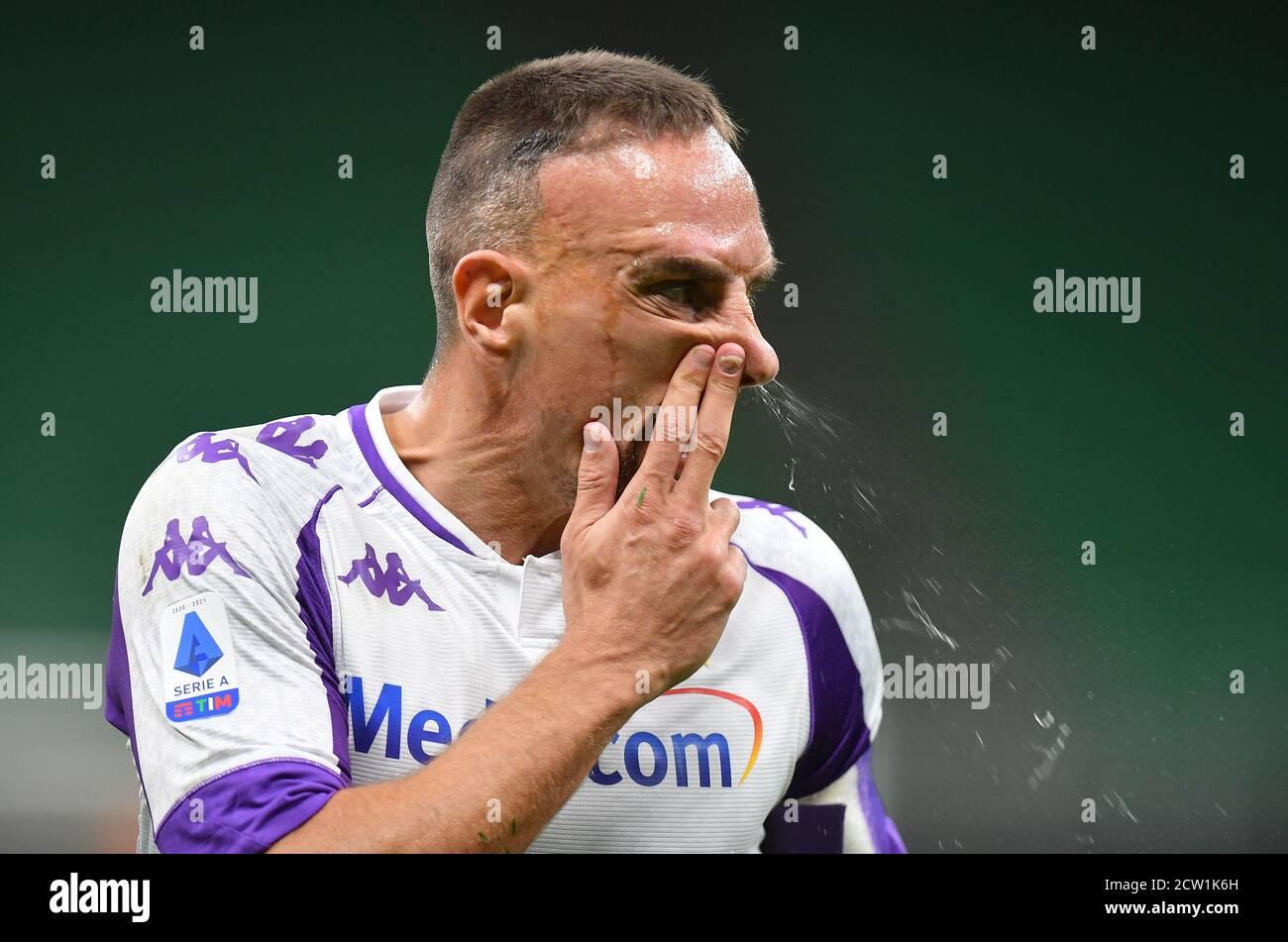 Football football - série A - Inter Milan / Fiorentina - San Siro, Milan, Italie - 26 septembre 2020. Franck Ribery REUTERS/Daniele Mascolo de Fiorentina Banque D'Images