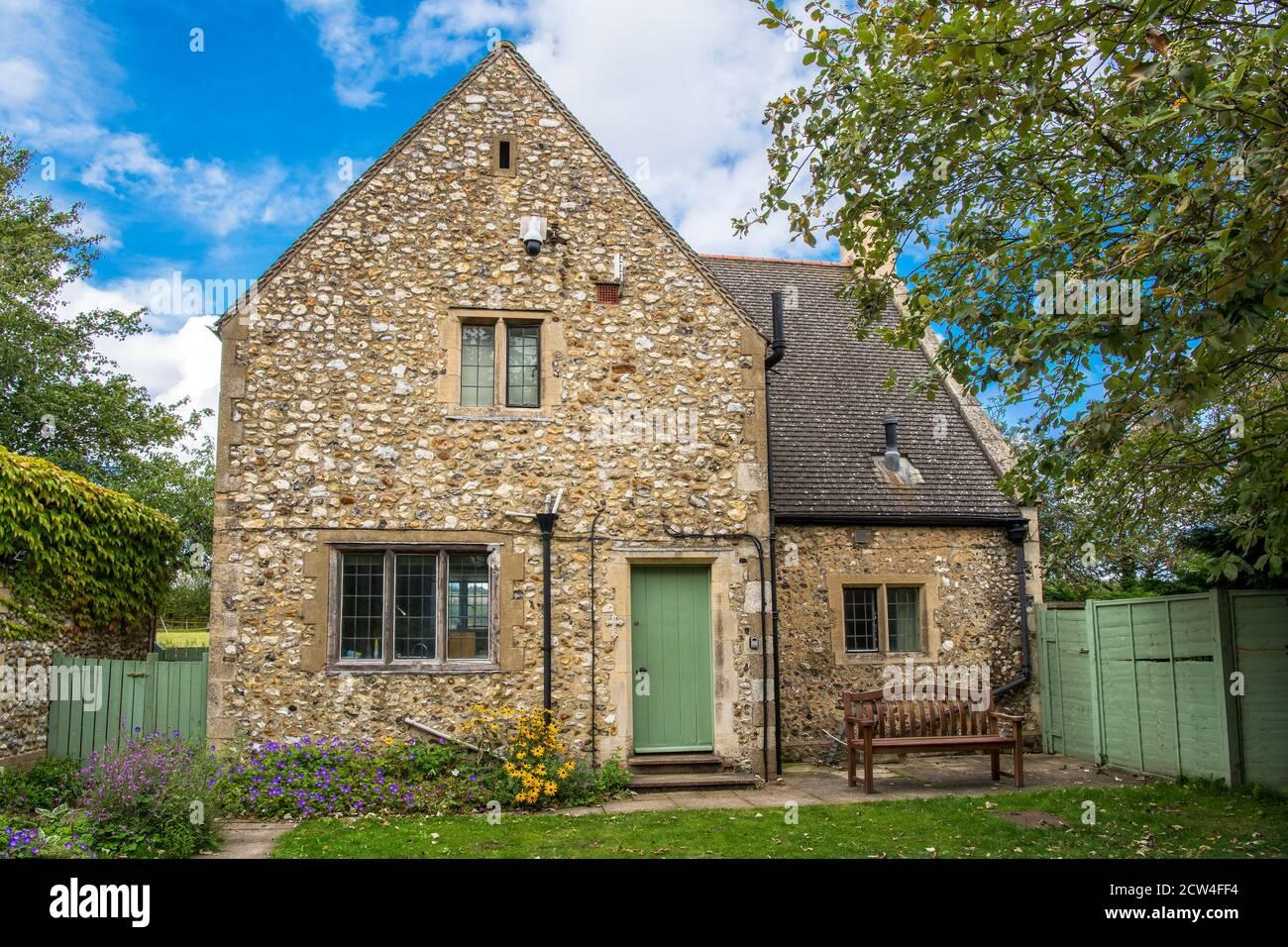 Maison en pierre dans le domaine presbytère Walsingham Norfolk Angleterre Banque D'Images