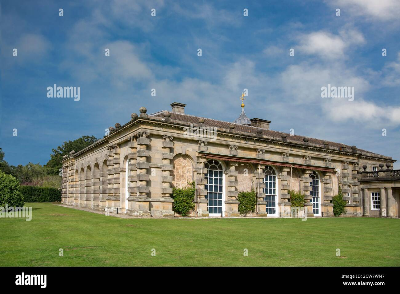 North colonnade hall Houghton Hall North Norfolk Angleterre Banque D'Images