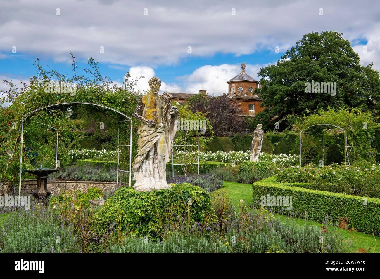 Jardin clos Houghton Hall Norfolk Angleterre Banque D'Images