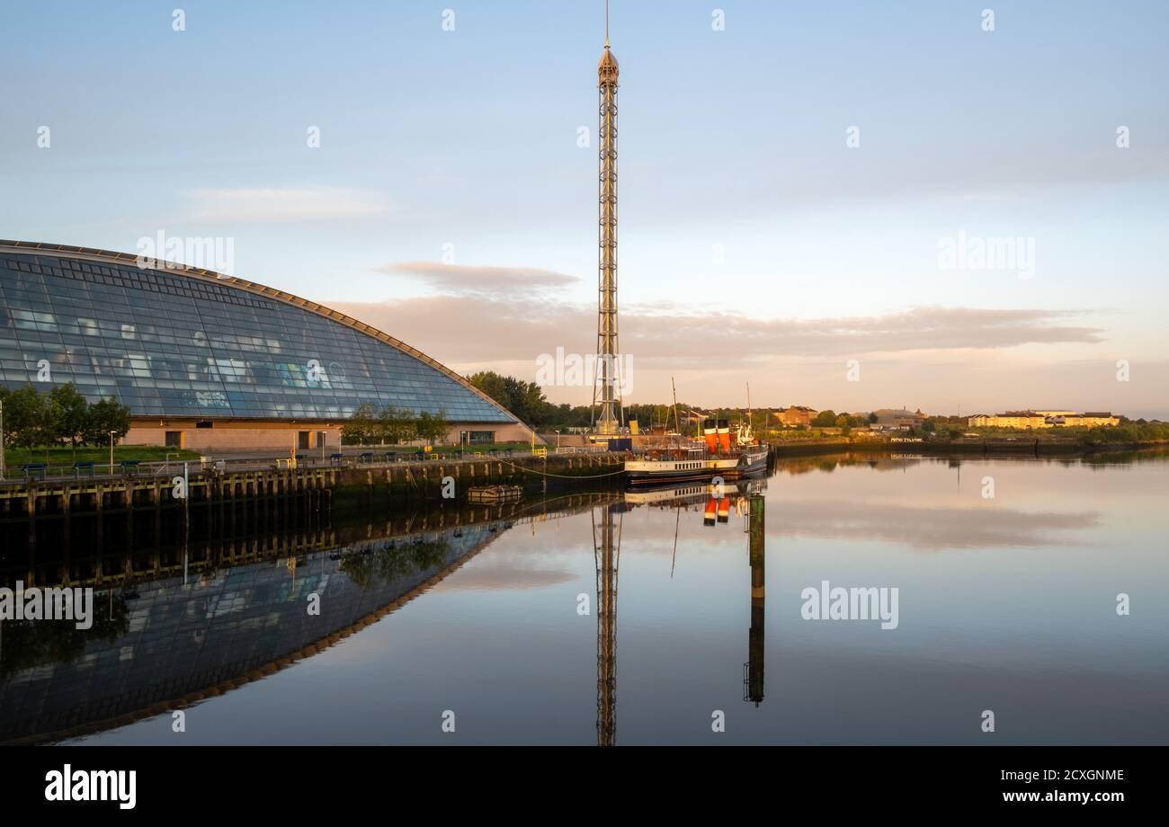 Glasgow Tower & Science Center, ville de Glasgow, Écosse, Royaume-Uni Banque D'Images