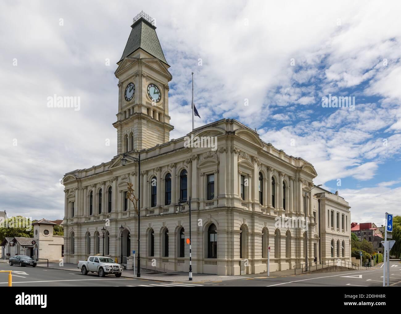 Waitaki District Council, rue Thames, Oamaru, Otago, Nouvelle-Zélande Banque D'Images
