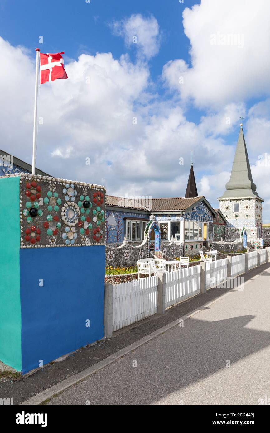 Sneglehuset, maison couverte de coquillages et coquillages, aujourd'hui un musée à Thyborøn, Danemark Banque D'Images