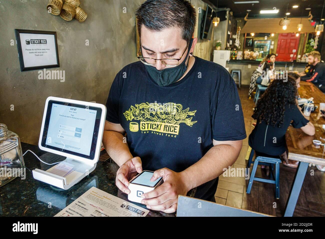 Floride Orlando Little Saigon Colonial Drive Sticky Rice Lao Street Alimentation restaurant ethnique asiatique Covid-19 coronavirus pandémie maladie infectieuse dise Banque D'Images