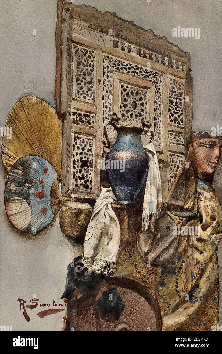 Swoboda II Rudolf - encore la vie avec des objets orientaux - École autrichienne - 19e siècle Banque D'Images
