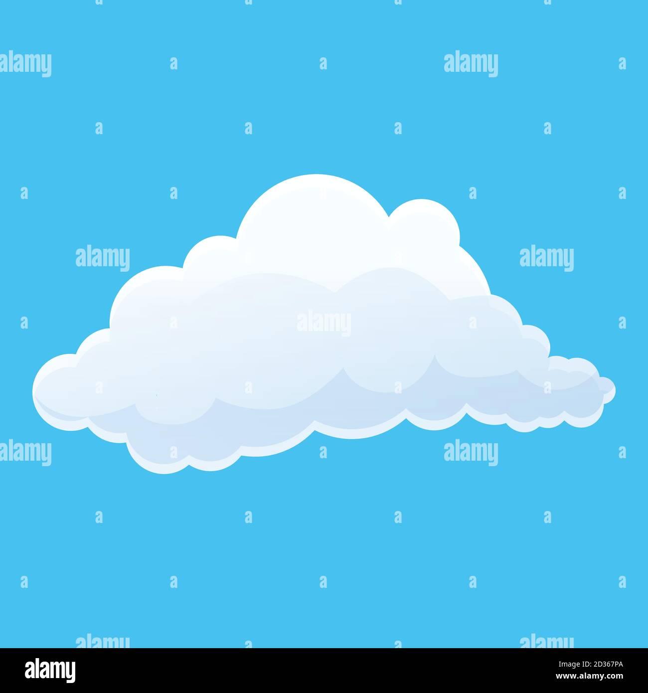 Icône de nuage agréable. Dessin animé de Nice nuage vector icône pour la conception de Web isolé sur fond blanc Illustration de Vecteur