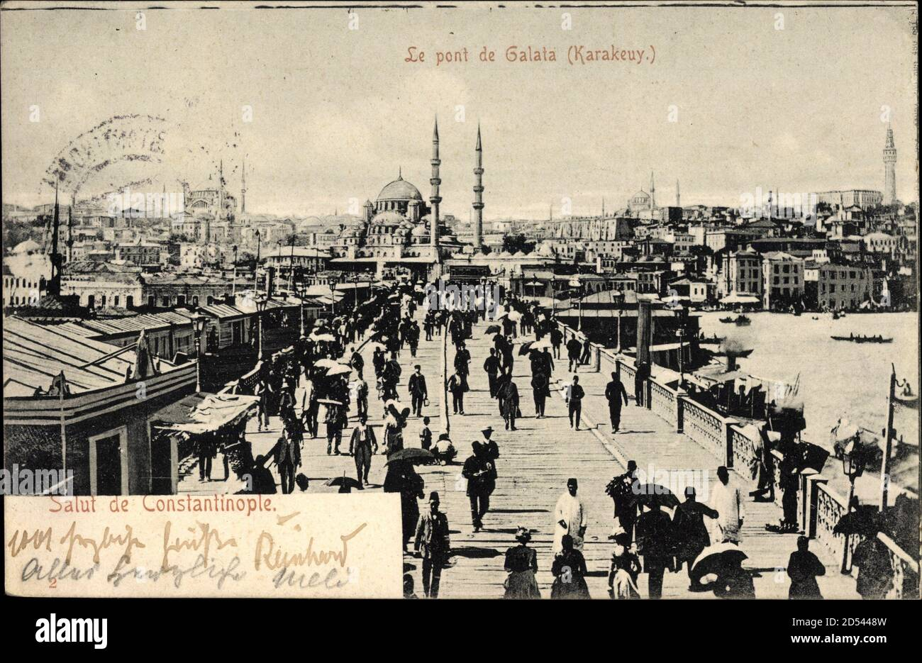 Konstantinopel Istanbul Türkei, le pont de Galata, Karakeuy   utilisation dans le monde entier Banque D'Images