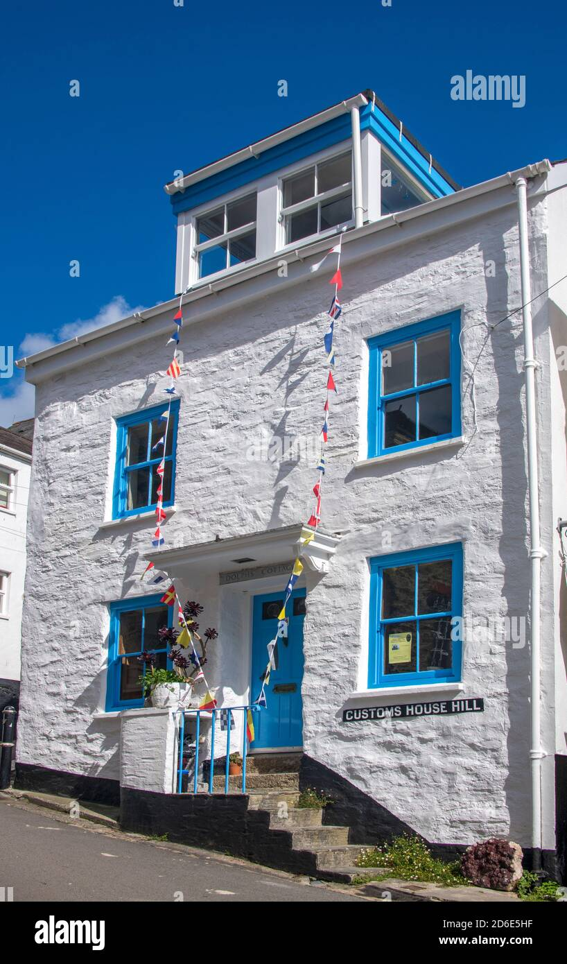 Old Customs House Fowey Cornwall Angleterre Banque D'Images