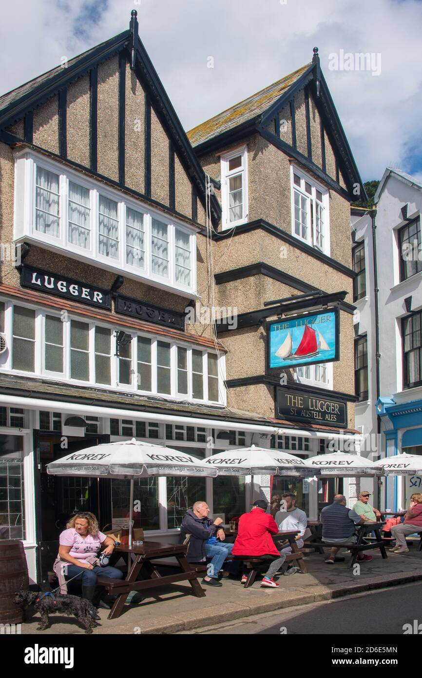 Le pub Lugger Fowey Cornwall, Angleterre Banque D'Images