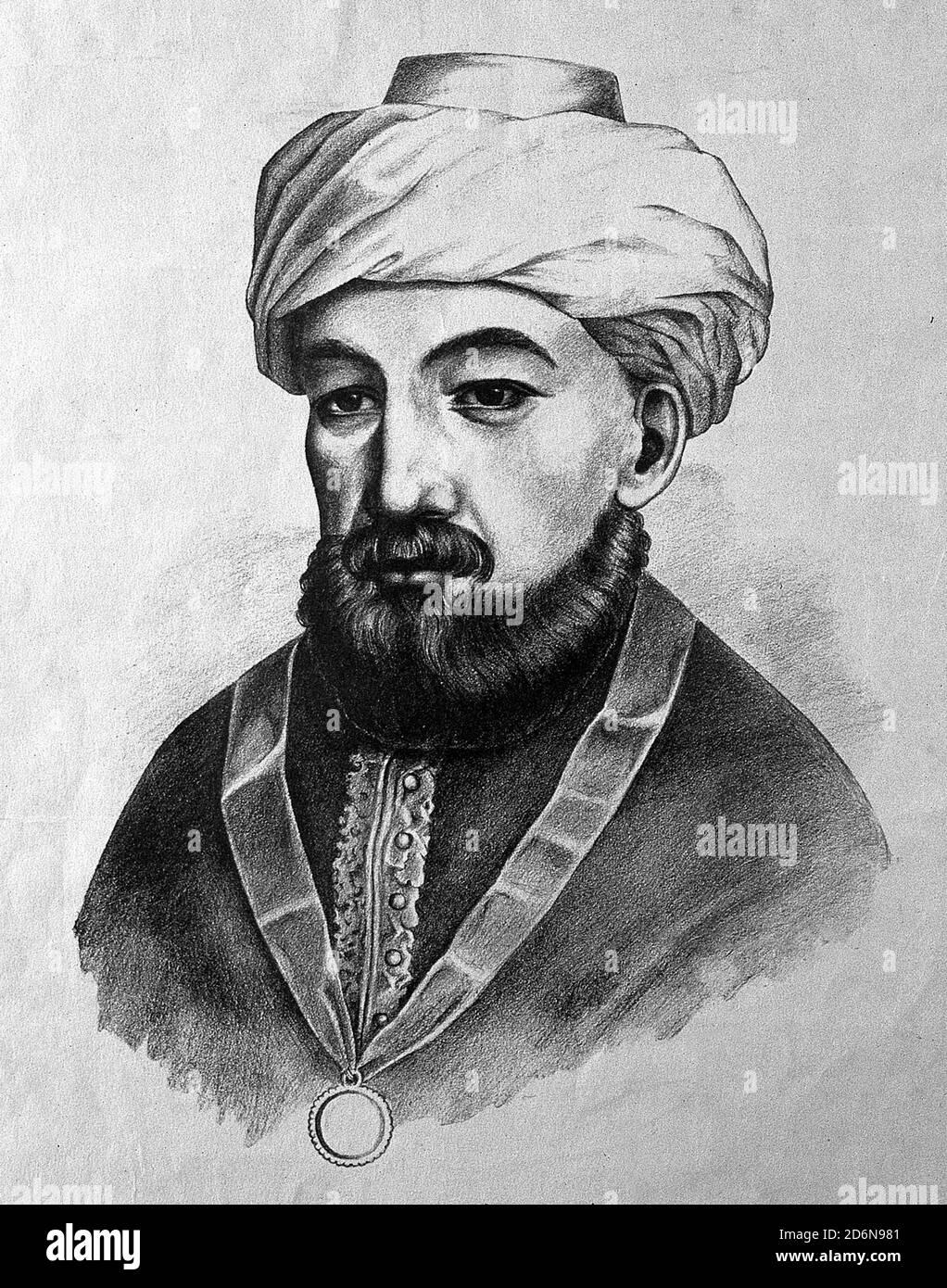 Moïse ben Maimon, connu sous le nom de Maimonides, philosophe juif sépharade médiéval qui devint l'un des érudits Torah les plus prolifiques et influents du Moyen-âge. Banque D'Images