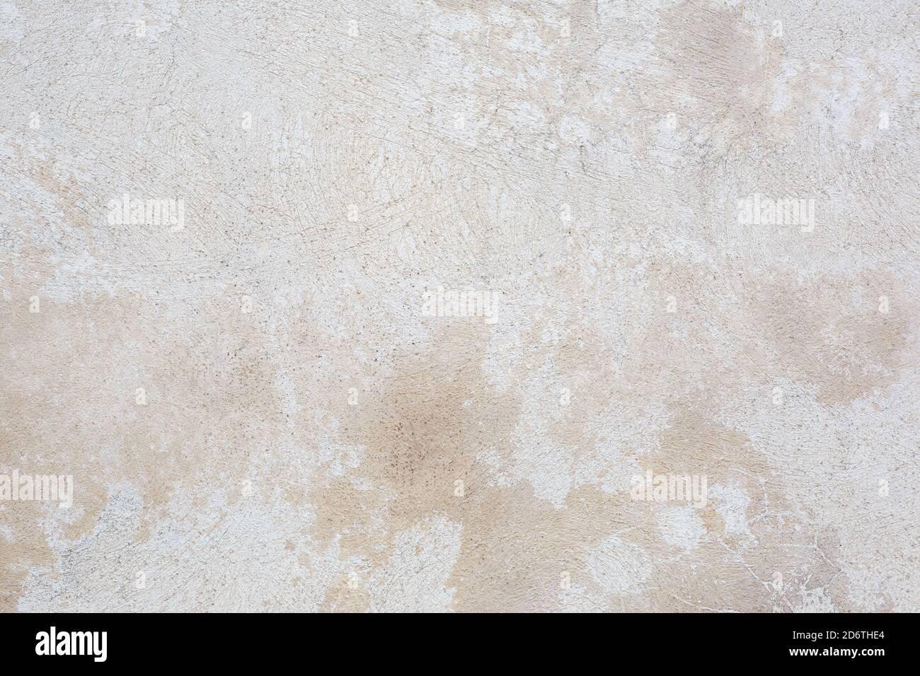 Mur de ciment blanc et beige, fond de texture en béton Banque D'Images