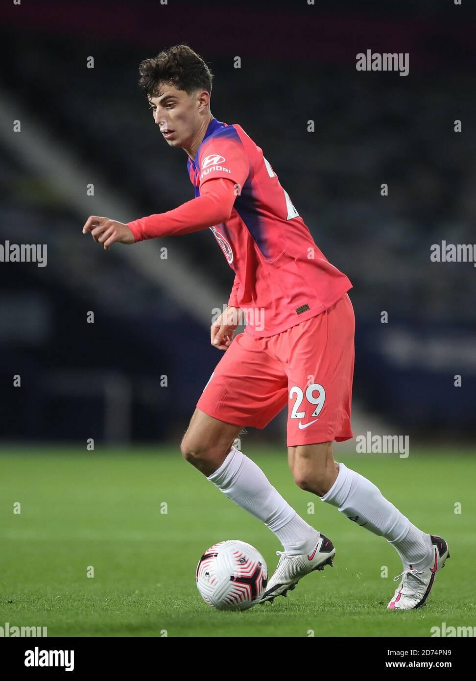 Kai Havertz de Chelsea pendant le match de la première Ligue aux Hawthorns, West Bromwich. Banque D'Images