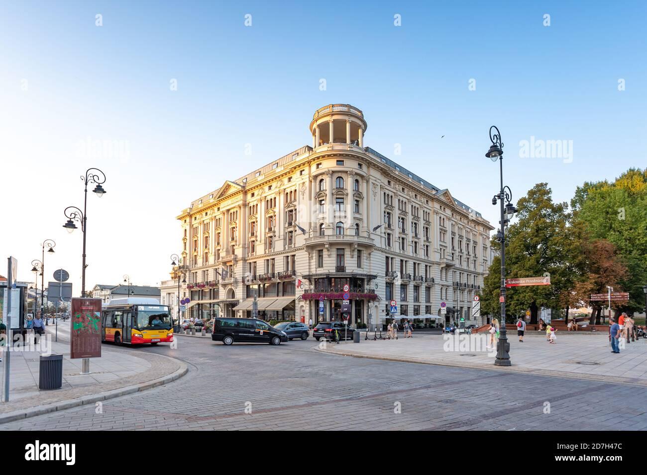 Hôtel Bristol, un hôtel de luxe - Varsovie Banque D'Images
