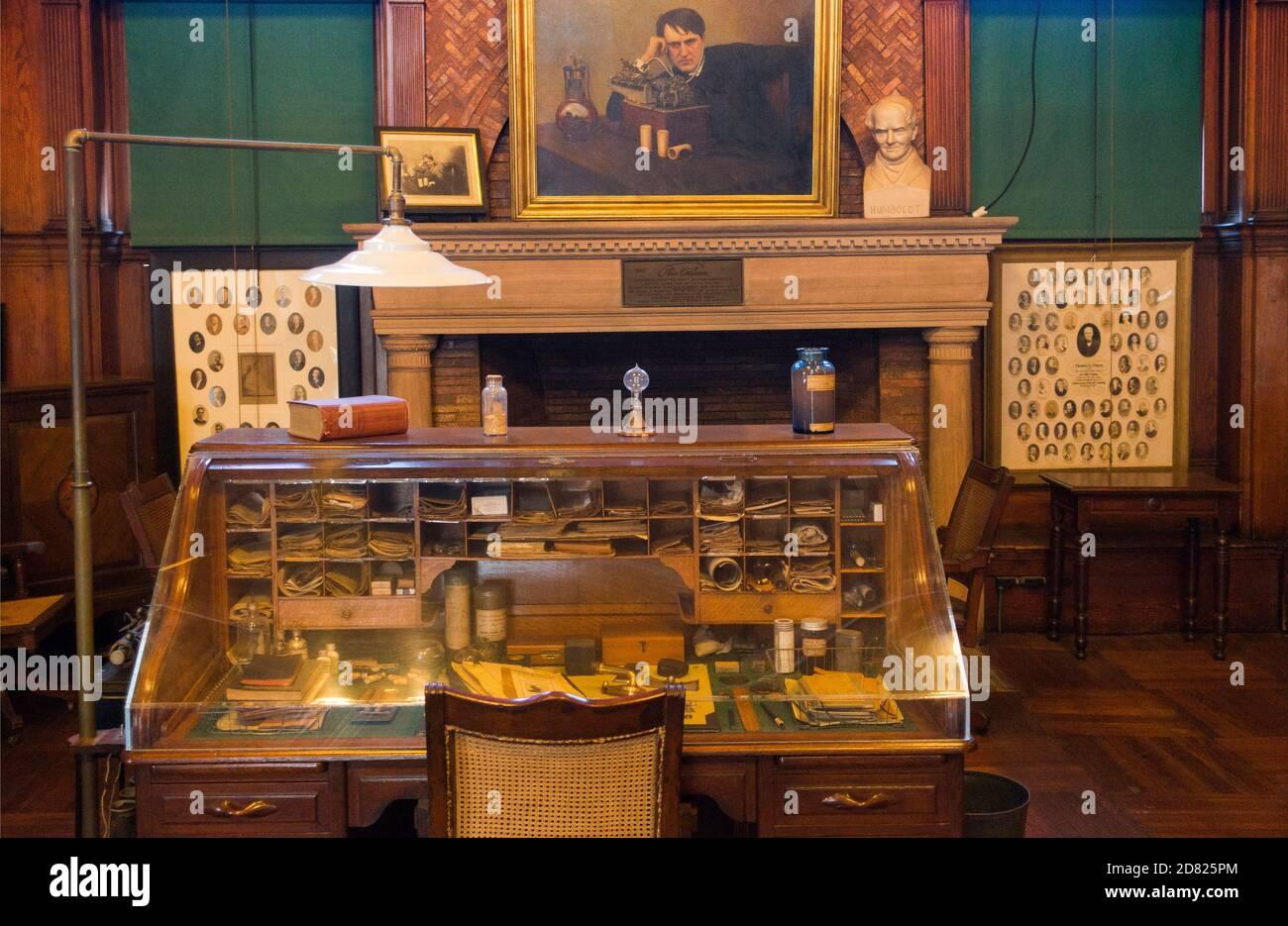Parc historique national Thomas Edison à Orange NJ Banque D'Images