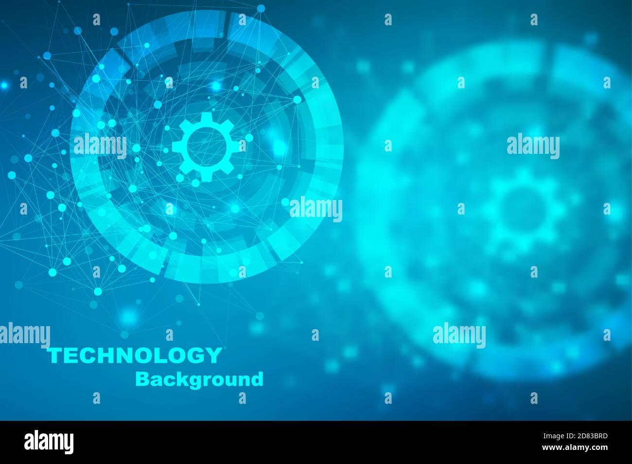 Grand Fond de visualisation de données. Résumé fond virtuel futuriste moderne. Science network pattern, la connexion de lignes et points. Réseau mondial Illustration de Vecteur