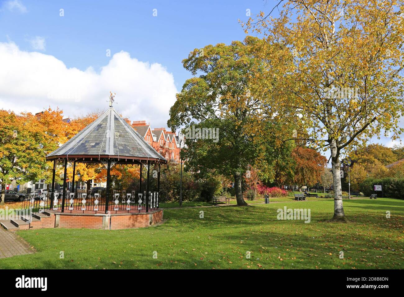 Temple Gardens, Spa Road, Llandrindod Wells, Radnorshire, Powys, pays de Galles, Grande-Bretagne, Royaume-Uni, Royaume-Uni, Europe Banque D'Images