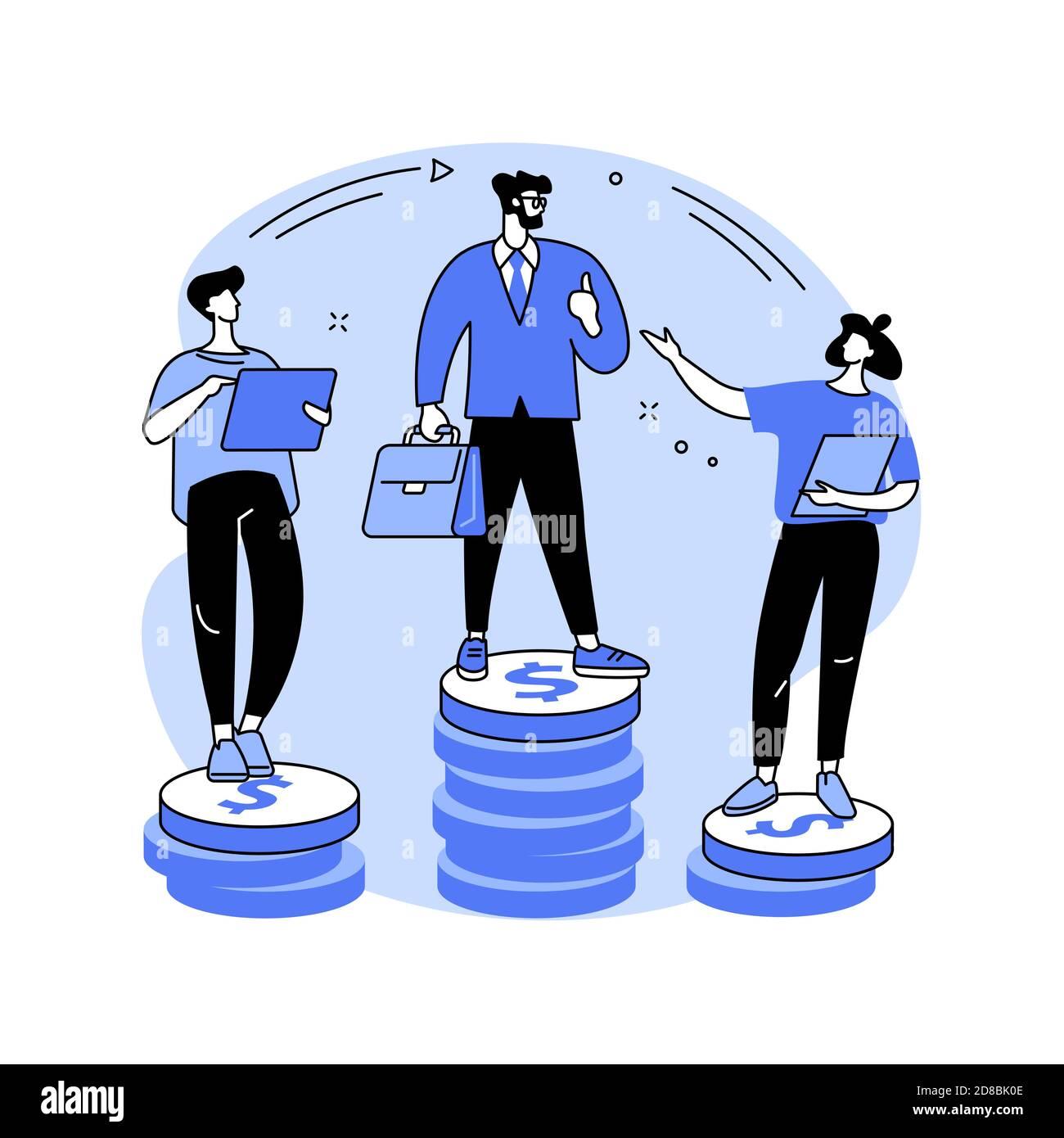 Illustration du vecteur de concept abstrait de l'inégalité des revenus. Illustration de Vecteur