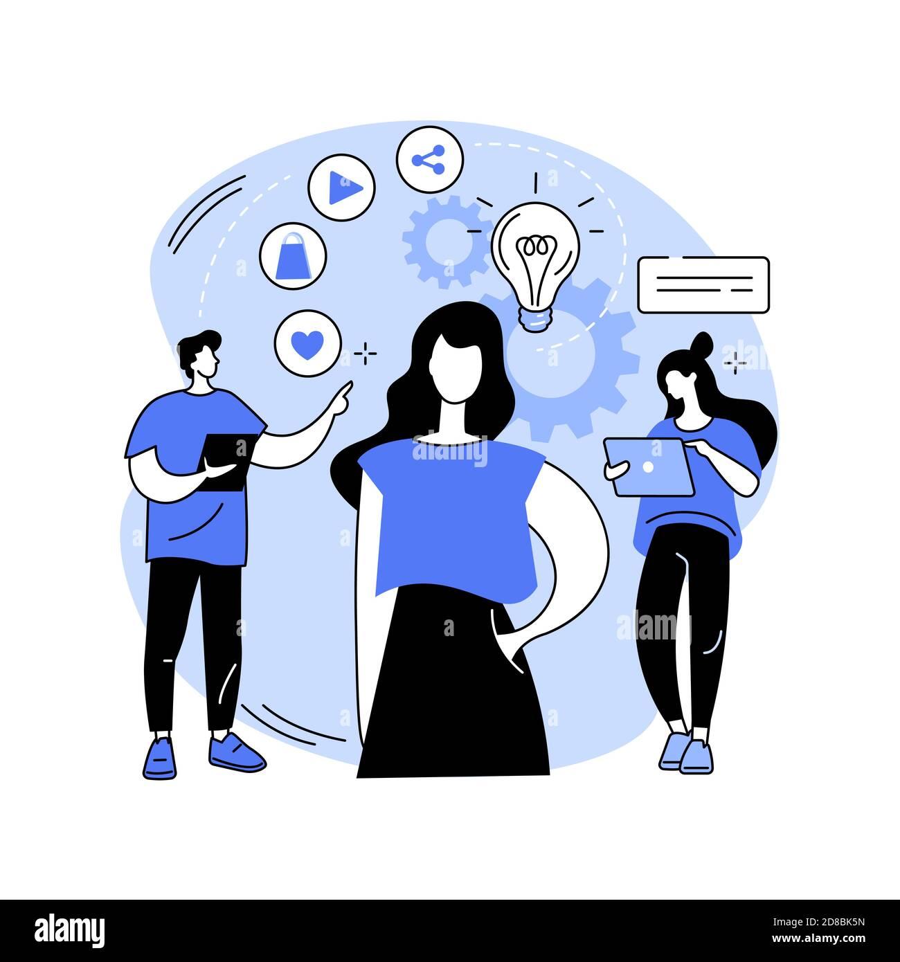 Illustration du vecteur de concept abstrait du comportement des consommateurs. Illustration de Vecteur
