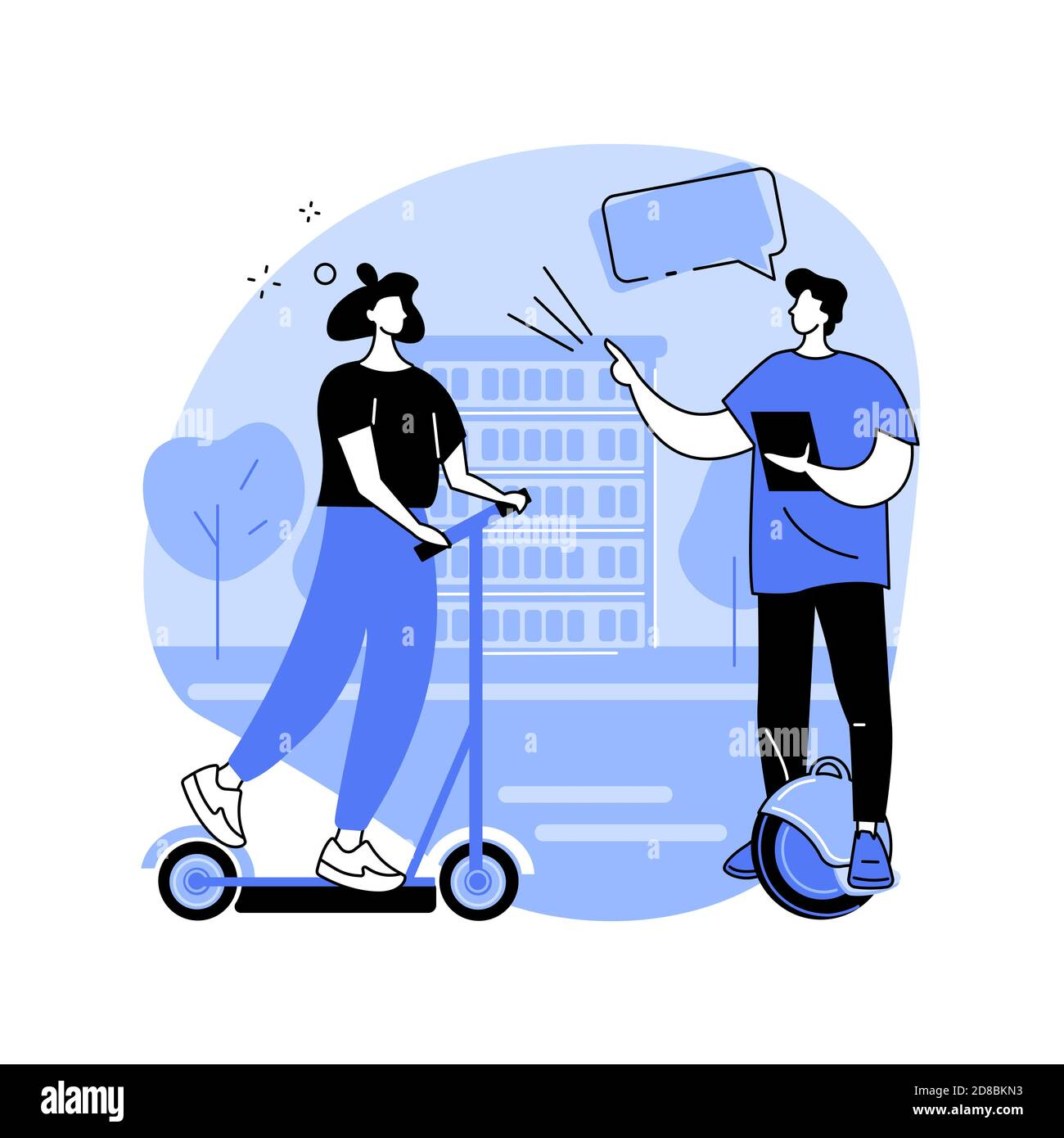 Transport électrique urbain concept abstrait illustration vectorielle. Illustration de Vecteur