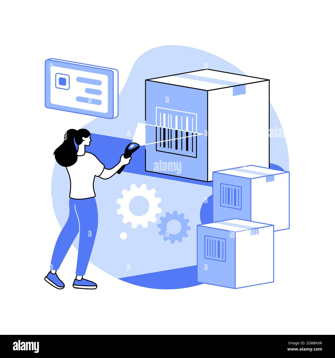 Illustration du vecteur de concept abstrait de lecture de code-barres. Illustration de Vecteur