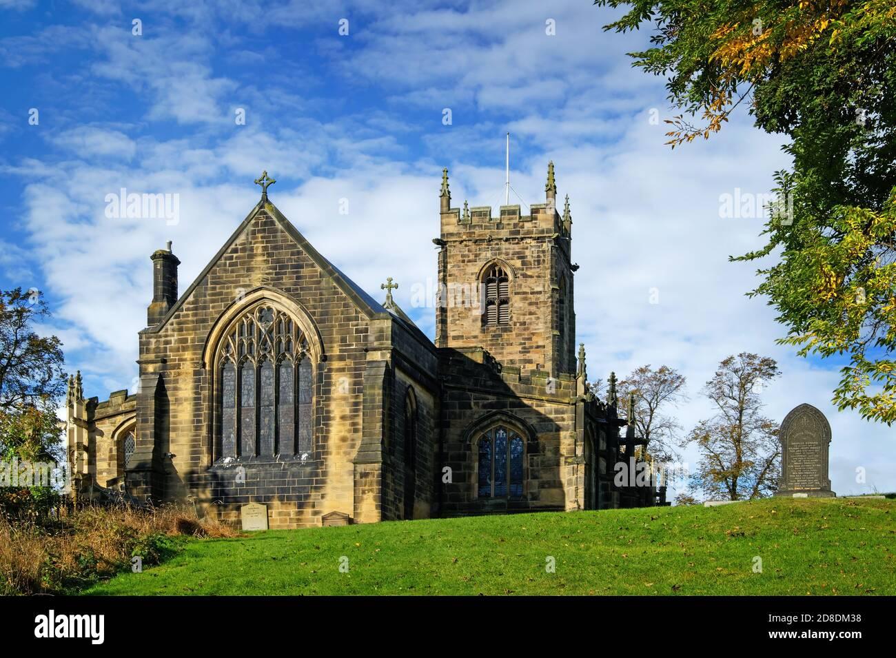 Royaume-Uni, Yorkshire du Sud, Barnsley, Silkstone, Église des Saints Banque D'Images