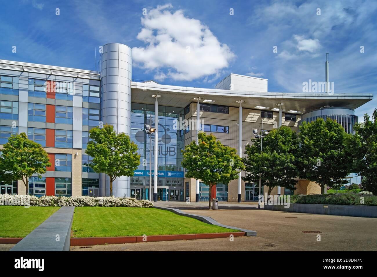 UK,South Yorkshire,Doncaster College Campus,le moyeu Banque D'Images
