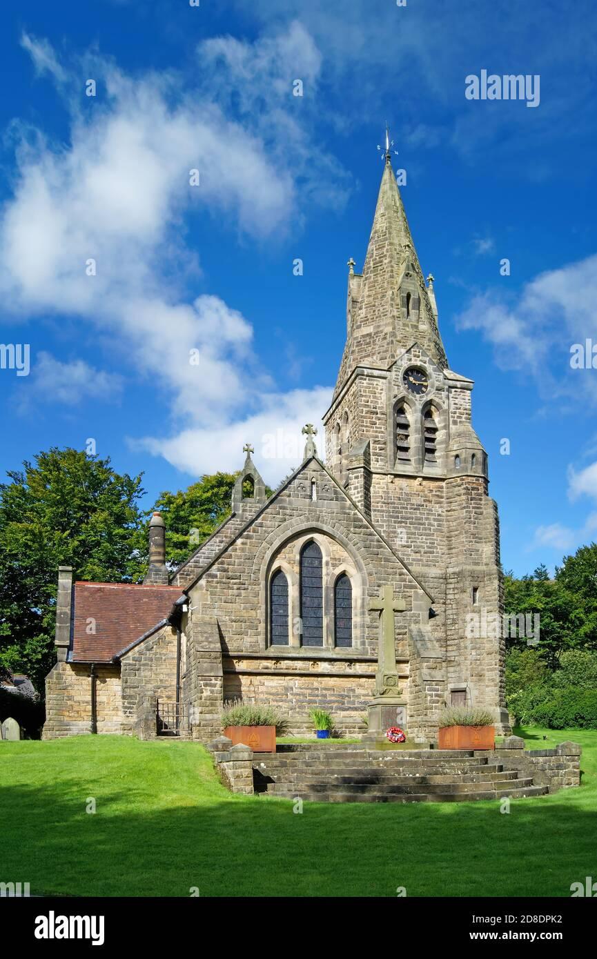 Royaume-Uni, Derbyshire, Peak District, Edale, Eglise de la Sainte Trinité Banque D'Images