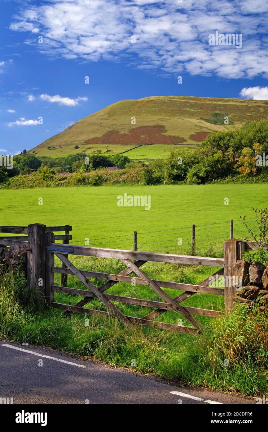 Royaume-Uni, Derbyshire, Peak District, Edale, Grindslow Knoll de Edale Road Banque D'Images