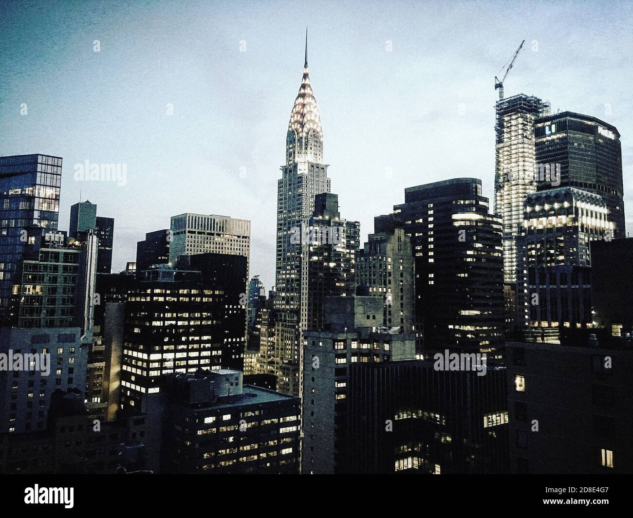 Chrysler Building et Skyline, New York City, New York, États-Unis Banque D'Images