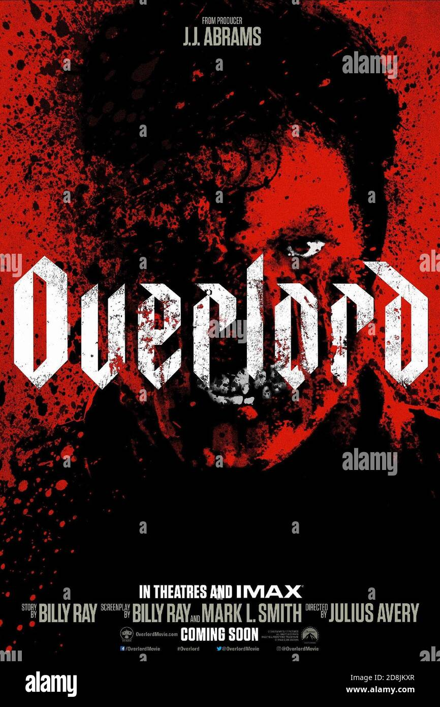 POSTER DE FILM, OVERLORD, 2018 © PARAMOUNT Banque D'Images