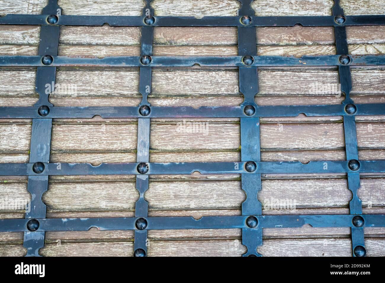 Ancienne texture de la grille en bois sur une image de gros plan Banque D'Images